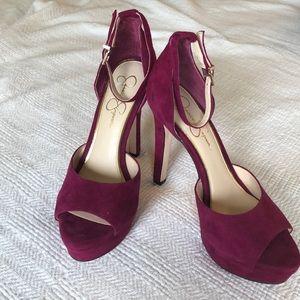 Jessica Simpson beeya hot pink/purple shoes size 9